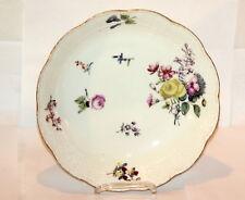 Meissen * Prunk-Schale * Blumen Bukett Bunt & Gold * 24cm Antik 1760 Rare 11557
