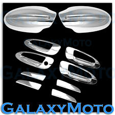 Triple Chrome Mirror+4 Door Handle WO PSG Keyhole Cover for 02-06 NISSAN ALTIMA