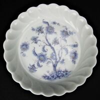 Haviland Limoges Blue Flower Tree Trinket Hairpin Jewelry Tray Candy Dish