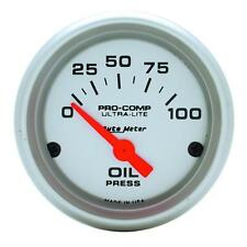 UNIVERSIAL DODGE FORD CHEVY AUTO METER 4327 ULTRA-LITE OIL PRESSURE GAUGE.