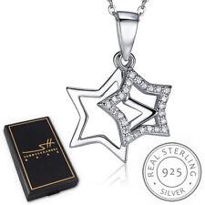 Sterne Kette Halskette 925 Sterling Silber Damen +Etui, Schmuckhandel Haak®