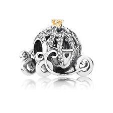 Genuine Pandora Silver Bead 925 & 14K Disney Cinderella Pumpkin Coach 791573CZ