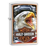 Zippo Windproof Lighter Harley-Davidson Mazzi Brushed Chrome (29499)