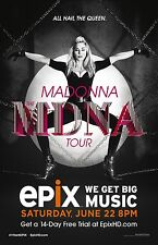 Madonna poster - MDNA Tour poster  - 11 x 17 inches