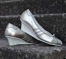 Adidas Superstar Heel Women Damen Keilabsatz Ballerina Wedge Schuhe Shoes silber