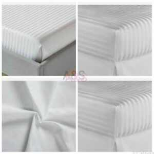 EXTRA DEEP WHITE FITTED SHEET BED SHEET 100% EGYPTIAN COTTON UP TO SUPER KING
