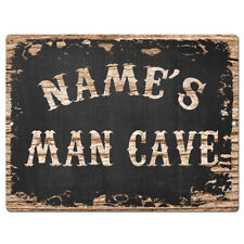 PP4236 NAME'S MAN CAVE Custom Personalized Chic Sign Decor Funny Gift