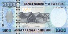 Rwanda 1000 Francs 2008 Unc pn 35