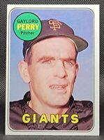 GAYLORD PERRY ⭐ San Francisco Giants Original 1969 Topps Baseball Card #485 EX!