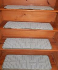 "13= STEP 9""X 30"" + LANDING 30''x 27'' Stair Treads Staircase WOVEN WOOL CARPET."