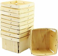 One Quart Wooden Berry Baskets 30 count Free shipping in the contiguous Usa only