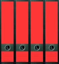 4er Set Ordnerrücken Neon Rot Blanco Ordner Aufkleber Etiketten Deko NC001