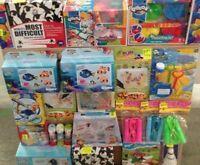 Lot Revendeur Déstockage  De 120 jouets pour enfants