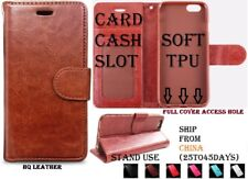 "Wallet Case Leather Flip Cover iphone 7 8 4.7"" Stand Card slot frame Etui TPU"