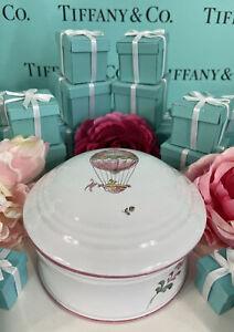 "Tiffany&Co. Hot Air Balloon Trinket Box Atelier de Segries France 4.5""x3.25"" Vtg"