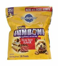 New listing Dog Food Snacks 1.31 lb.Beef Flavor Deliriously Satisfying Bone Like Outer Shell