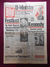 MARILYN MONROE  BILD-ZEITUNG 23.12.1975 J.F. KENNEDY  BETTGESCHICHTEN