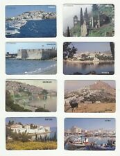 OTE 1996 GREEK GREECE PHONECARDS – LOT OF EIGHT – TIRAGE 250.000