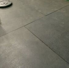 """4 x 6' 3/4"""" SMOOTH RUBBER FLOOR GYM MAT COMMERCIAL INDUSTRIAL FLOORING CROSSFIT"""