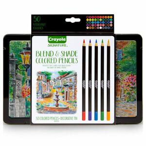 Crayola 50 Blend & Shade Pencils - Artists Premium Pencils in decorative tin