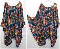 Lagenlook Kaftan Beach Hippie Dress Angel sleeve Size 20 22 24 26 28 30 32 zzz21