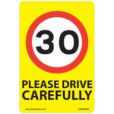 30 Mph Speed Signs [9 X Pack] - A5 Vinyl Stickers, Yellow Background Ideal Fo...