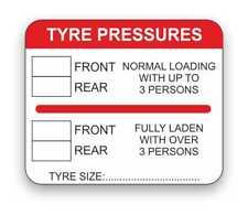VW pression pneus Autocollant 155 010 053 N