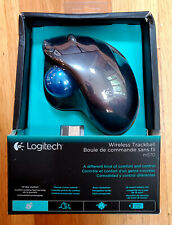 NEW Logitech M570 Wireless Trackball Mouse Gray/Blue NIB Right Hand USB Receiver