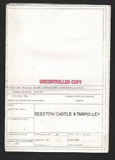 More details for beeston castle & tarpoley (railway diagram)