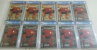 SPIDER-MAN #1 ALL CGC GRADED LOT OF (10) COMICS w/ Silver Variants 9.8 9.4 9.2