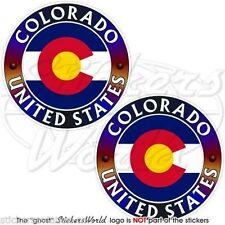 "COLORADO State USA, Coloradan America Vinyl Bumper, Decals-Stickers 3"" (75mm) x2"