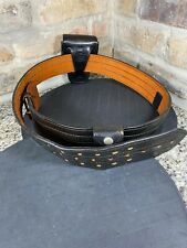 Don Hume Officer Leather Duty Gear Belt Sz 44 Handcuff Holder Police Sheriff