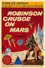 Framed Retro Movie Poster – Robinson Crusoe on Mars 1964 (Replica Print Horror)