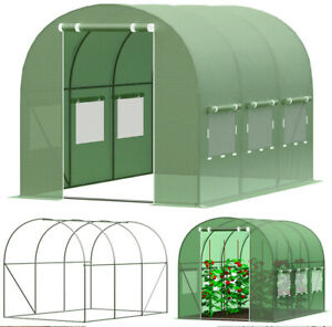 Serre de jardin TUNNEL EN FEUILLE Végétale jardin outil maisons plantes verde