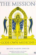 THE MISSION GOD'S OWN MEDICINE U.K. ALBUM SUBWAY Huge ! 3x5 Feet PROMO POSTER