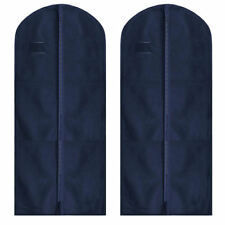 2 Blue Moth Proof Strong Long Garment Dress & Coat Storage Cover Bag Carrier