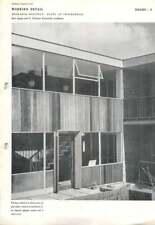 1951 Entrance Doorway: Flats At Twickenham Eric Lyons G. Paulson Townsend,