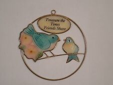 "Paula Handcrafted Shell & Birds ""Treasure The Times Friends Share"" Ornament"