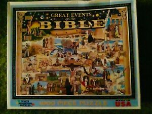GREAT EVENTS of the BIBLE. 1000 piece jigsaw puzzle. Used.