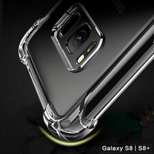 For Samsung Models Clear Hard TPU Bumper Extra Edge Protection Back Case Cover