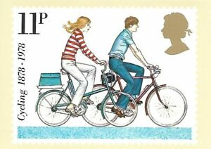 POST OFFICE STAMP POSTCARD<>CYCLING (Modern Small Wheel Cycle)  ~~
