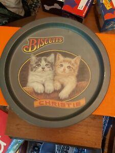 Vintage Advertising Trays .Christie biscuits ,vgc .