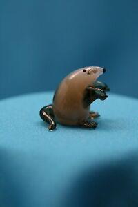 Glasfigur Maulwurf Tierfigur Waldtier Figur aus Glas Glasobjekt Muranoglas