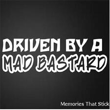 Driven By a Mad Funny Car Window Bumper JDM VAG EURO Novelty Vinyl Decal Sticker