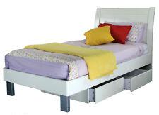 EOFY SALE Lisa High Quality King Single Storage Bed Kids White 4myhomecomau