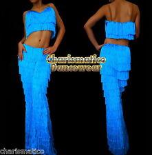 BLUE SALSA Latin SAMBA Fringe YULIA dance pants & Top