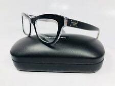 cbfdb69590 New Dolce   Gabbana DG 3253 3080 Black On Clear with Print 49mm with Case