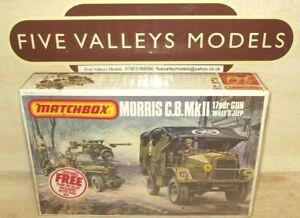 121021/06 Matchbox PK-172 Morris C.8. 17pdr Gun Willy's Jeep 1:76 Still Sealed.