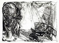 "Kunst in der DDR. ""Zirkus"" 1989 Lithogr. Ellen FUHR (1958-2017 D), handsigniert"