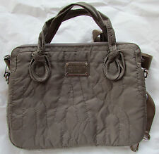 "Marc by Marc Jacobs 13"" Laptop Messenger Bag Pretty Nylon Quartz Grey NEW"